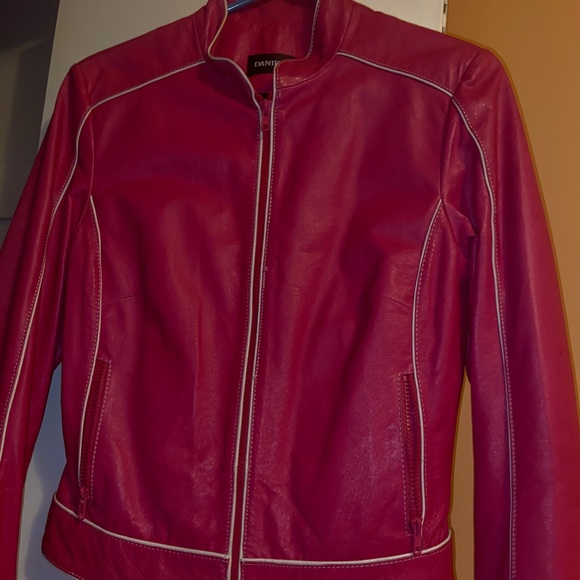 PINK DANIER LEATHER JACKET